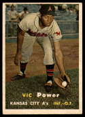1957 Topps #167 Vic Power UER VG/EX Very Good/Excellent