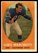 1958 Topps #16 Gino Marchetti EX Excellent