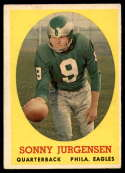 1958 Topps #90 Sonny Jurgensen VG/EX Very Good/Excellent RC Rookie
