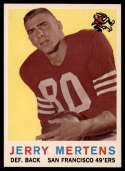 1959 Topps #42 Jerry Mertens NM Near Mint RC Rookie