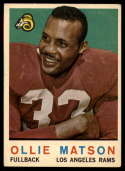 1959 Topps #50 Ollie Matson VG Very Good