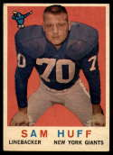 1959 Topps #51 Sam Huff VG Very Good RC Rookie