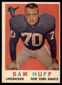 1959 Topps #51 Sam Huff VG/EX Very Good/Excellent RC Rookie