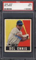1948-49 Leaf #49 Del Ennis PSA 3 RC Rookie