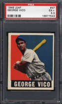 1948-49 Leaf #47 George Vico PSA 5.5 RC Rookie