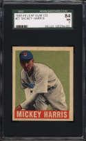 1948-49 Leaf #27 Mickey Harris SGC 84 7 RC Rookie