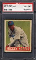 1948-49 Leaf #27 Mickey Harris PSA 4 RC Rookie