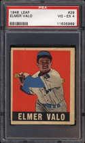1948-49 Leaf #29 Elmer Valo PSA 4 RC Rookie