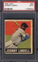 1948-49 Leaf #82 Johnny Lindell PSA 5