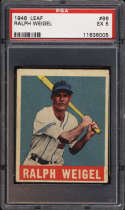 1948-49 Leaf #86 Ralph Weigel PSA 5 RC Rookie