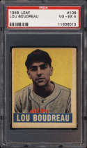 1948-49 Leaf #106 Lou Boudreau MG PSA 4 RC Rookie