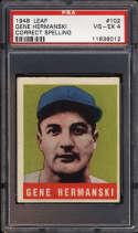 1948-49 Leaf #102 Gene Hermanski ERR PSA 4 RC Rookie