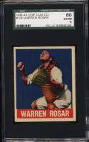 1948-49 Leaf #128 Buddy Rosar SGC 80 6