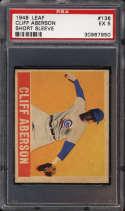 1948-49 Leaf #136 Cliff Aberson PSA 5 RC Rookie