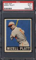 1948-49 Leaf #159 Mizell Platt PSA 5.5 RC Rookie