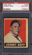 1948-49 Leaf #139 Johnny Hopp PSA 4 RC Rookie