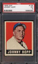 1948-49 Leaf #139 Johnny Hopp PSA 5 RC Rookie
