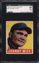 1948-49 Leaf #46 Johnny Mize SGC 86 7.5