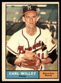 1961 Topps #105 Carl Willey EX Excellent