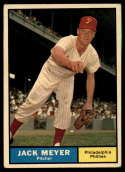1961 Topps #111 Jack Meyer VG/EX Very Good/Excellent