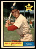 1961 Topps #118 Chris Cannizzaro VG/EX Very Good/Excellent RC Rookie
