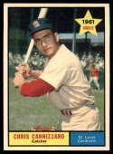 1961 Topps #118 Chris Cannizzaro EX Excellent RC Rookie