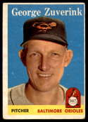 1958 Topps #6 George Zuverink VG/EX Very Good/Excellent
