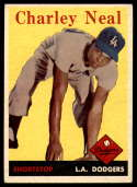 1958 Topps #16 Charlie Neal UER EX++ Excellent++