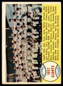 1958 Topps #19 Giants Team Checklist 1-88 EX Excellent