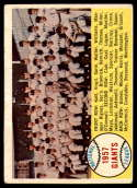 1958 Topps #19 Giants Team Checklist 1-88 VG/EX Very Good/Excellent