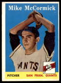 1958 Topps #37 Mike McCormick UER EX Excellent RC Rookie