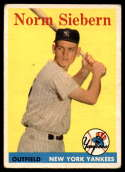 1958 Topps #54 Norm Siebern UER VG Very Good RC Rookie