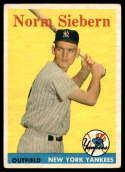 1958 Topps #54 Norm Siebern UER VG/EX Very Good/Excellent RC Rookie