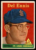 1958 Topps #60b Del Ennis Yellow Letters VG/EX Very Good/Excellent