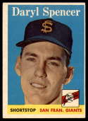 1958 Topps #68 Daryl Spencer EX Excellent