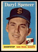 1958 Topps #68 Daryl Spencer VG/EX Very Good/Excellent