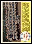 1958 Topps #71 Dodgers Team marked