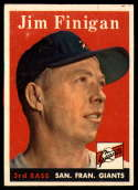 1958 Topps #136 Jim Finigan EX Excellent