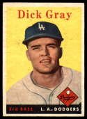 1958 Topps #146 Dick Gray EX Excellent RC Rookie