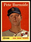 1958 Topps #211 Pete Burnside EX Excellent RC Rookie