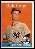 1958 Topps #224 Bob Grim EX Excellent