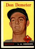 1958 Topps #244 Don Demeter VG/EX Very Good/Excellent RC Rookie