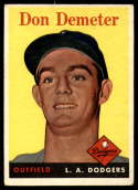 1958 Topps #244 Don Demeter EX Excellent RC Rookie