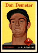 1958 Topps #244 Don Demeter EX/NM RC Rookie
