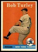 1958 Topps #255 Bob Turley EX/NM