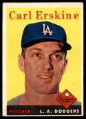 1958 Topps #258 Carl Erskine VG/EX Very Good/Excellent