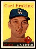 1958 Topps #258 Carl Erskine EX Excellent