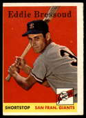 1958 Topps #263 Eddie Bressoud VG Very Good RC Rookie