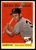 1958 Topps #263 Eddie Bressoud VG/EX Very Good/Excellent RC Rookie