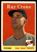 1958 Topps #272 Ray Crone VG Very Good